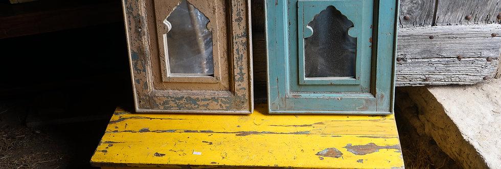 miroir bois inde/indus/miroir bois couleur/miroir oriental/miroir jamini/meubles en fil d'indienne/miroir arabesque/Cahors