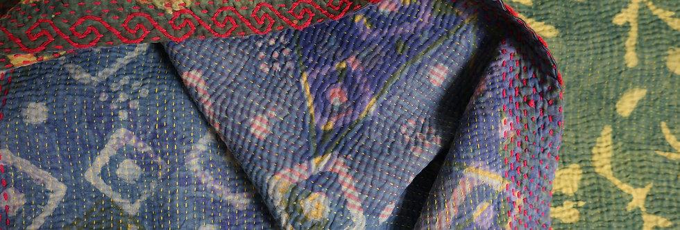 Plaid/vintage/bohème/chic/couvre lit/caravane/collection/Paris/Jamini/tissus/linge/shibori/plaid/bedcover/bedspread/Figeac