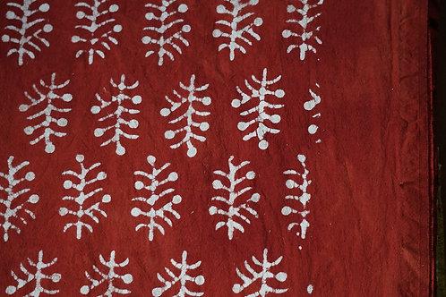 nappe ocre rouge/tissu batik/couvre lit caravane/tissus Paris/shibori plaid/indian bedcover/indian bedspread/