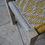 Thumbnail: Banc charpoy, 80 x 40 x 40 cm, jaune et blanc, banquette indienne, bout de lit