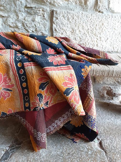 Plaid ou jeté de lit vintage 648D bohème chic