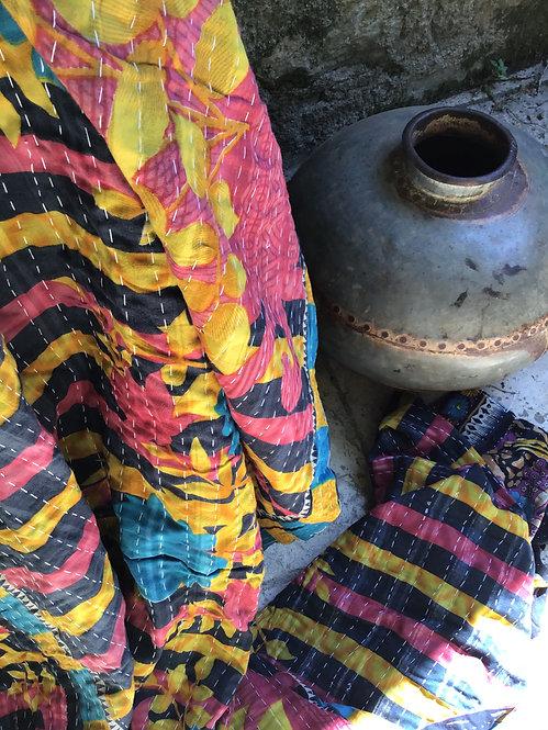 Plaid ou jeté de lit vintage 247B bohème chic