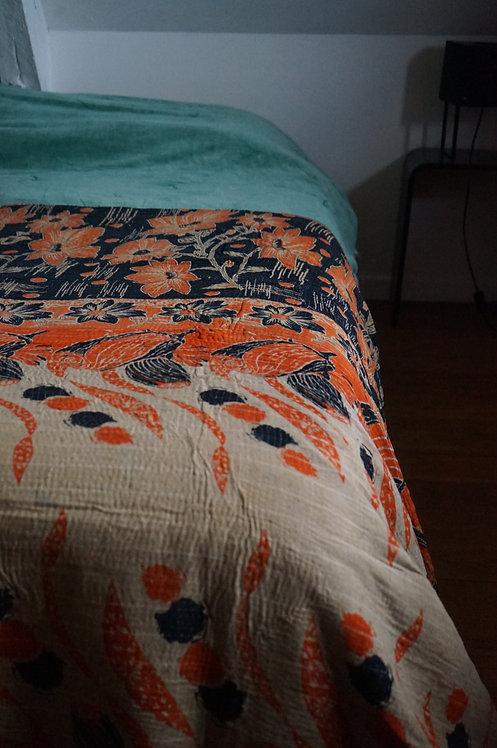 Bouti ou couvre lit, Plaid ou jeté de lit vintage 004