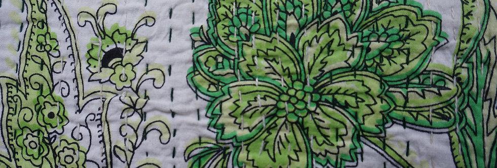 Plaid/vintage/bobochic/couvre lit/caravane/collection/Paris/Jamini/tissus/linge/shibori/plaid/bedcover/bedspread/Figeac