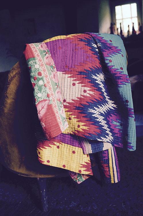 Plaid vintage bohème/couvre lit delamaison/parure de lit indien/plaid caravane/plaid sensitive/fiancee du mekong/bouti indien