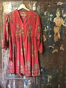 Tunique, kurta indienne en coton tout doux, tellement agréable à porter.