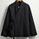 Thumbnail: Veste molletonnée unisexe croisée manches longues /top coton et lin/col droit