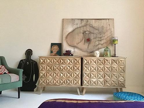 Lot de 2 meubles origami esprit années 30