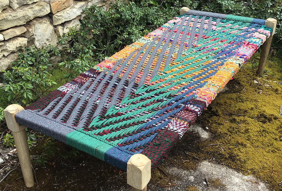 charpoy couleur/charpoy/charpoy jaune et bleu/lit indien couleur/lit indien multicolore/indian bed/daybed/indian daybed/Lot