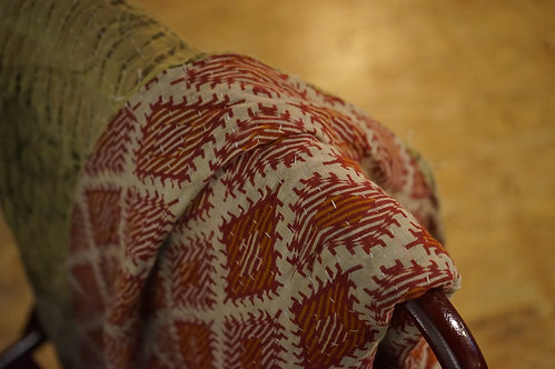 Plaid vintage/couvre lit ethnic chic/couvre lit/Paris/en fil d'indienne/linge-de-maison vintage/bedcover/bedspread/Figeac