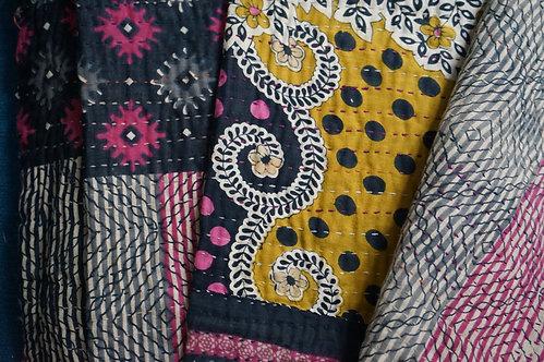 couvre lit vintage/plaid vintage/plaid caravane/plaid motif fleurs/couvre lit fleurs/plaids la maison générale/plaid jamini