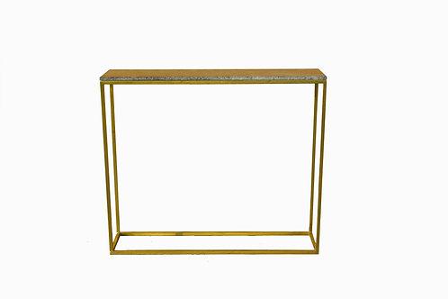 console leton marbre/indus table basse marquetterie/meuble industriel Paris/meubles bois et metal Lot/design bois metal