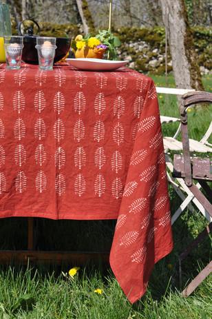 Nappe pour une table de campag