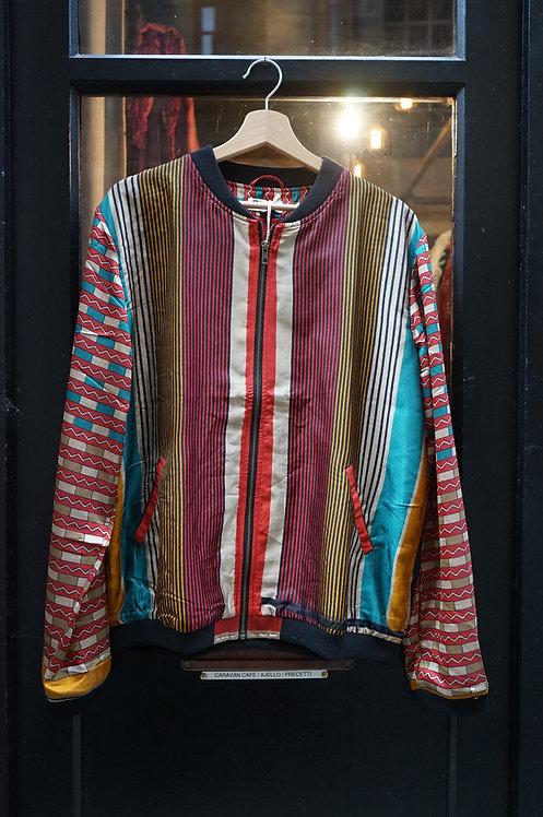 Bomber en soie/blouson vintage/ blouson soie/ethnic chic/vêtements bohème chic/la fiancée du Mékong/anokhi/veste reveillon