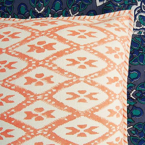 coussin motif Square Canvas Sofa/Bed Cushion Covers Pillow la maison générale boutique Merci Paris linge de maison oranger