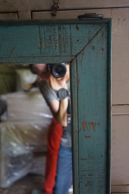 brocante Figeac/miroir bois patine bleue/meuble indien/miroir ancien bleu/meubles indiens Toulouse/meubles inde Paris/meuble