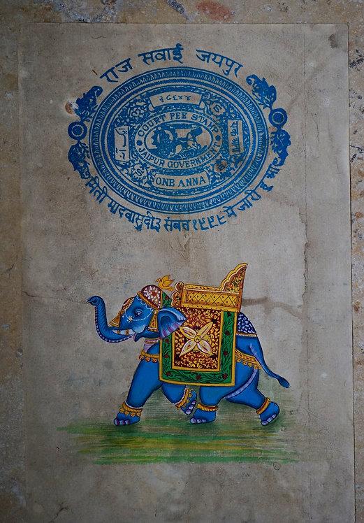 miniature indienne/palanquin/éléphant/miniatures peintes indiennes/meubles indiens/artisanat Inde/art indien/miniature Inde