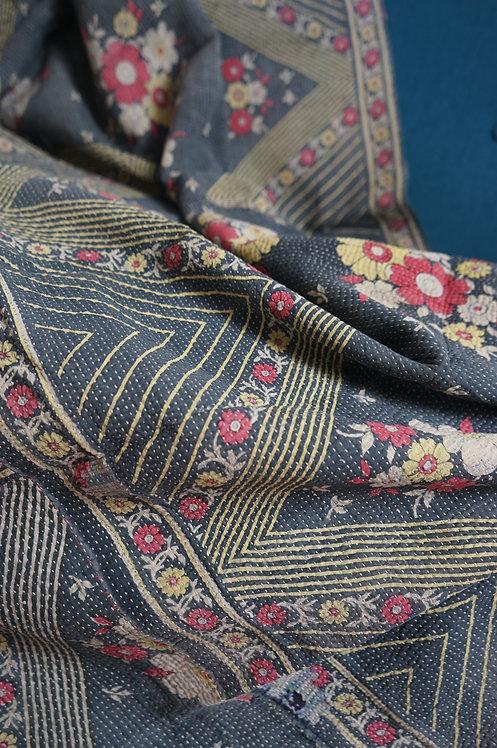 Plaid/vintage/bohème/chic/couvre lit/caravane/collection/Paris/sensitive/tissus/linge/shibori/plaid/bedcover/bedspread/Figeac