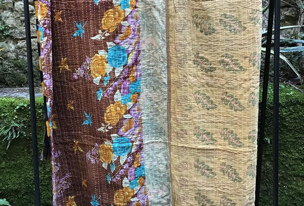 Plaid indien/plaid vintage/plaid inde/tissu indien/tissu vintage/patchwork indien/plaid caravane/plais anciens/plaids vintage
