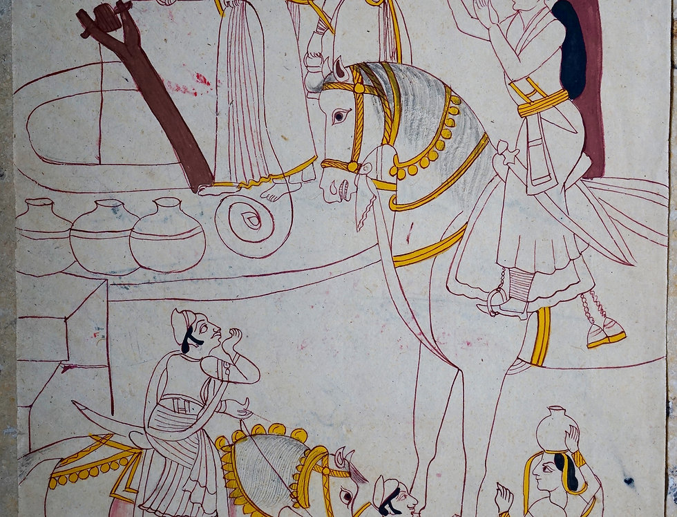 miniature indienne/miniature rajasthan/miniatures peintes indiennes/meubles indiens/artisanat Inde/art indien/miniature Inde