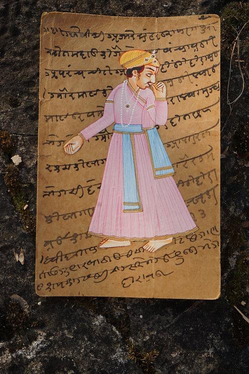 carte postale/ancienne/inde/Rajasthan/Bundi/miniature/dessin/peinture/artisanat/meubles/maharajah/figeac/Paris/Lyon/Bordeaux