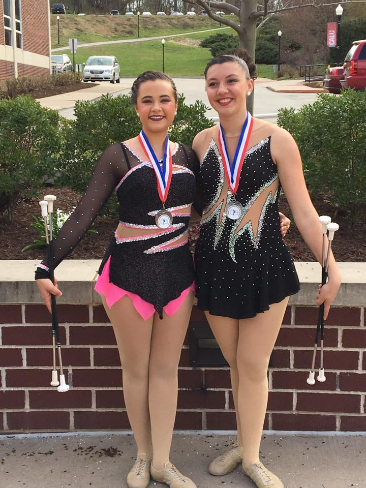 Frankie and Kendall - states 2017 - open nov solo 2nd and 3rd