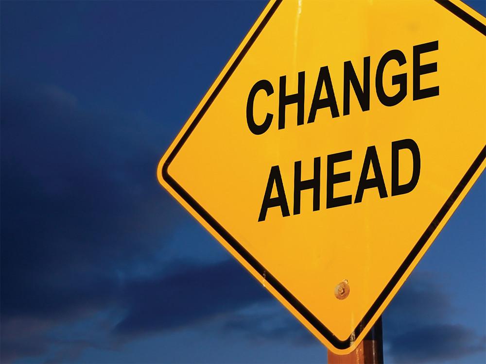 Change ahead sign