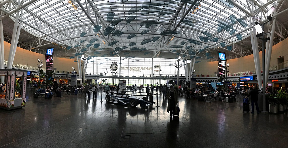 Civic plaza at Indianapolis International Airport will greet fans and families for the NCAA's march madness.