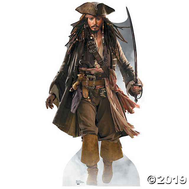 Johnny Depp as Captain Jack Sparrow from Disney's Pirates of the Caribbean