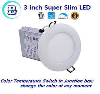 3 inch Slim Round Panel-3CCT select color