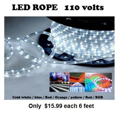 LED ROPE 110 VOLTS