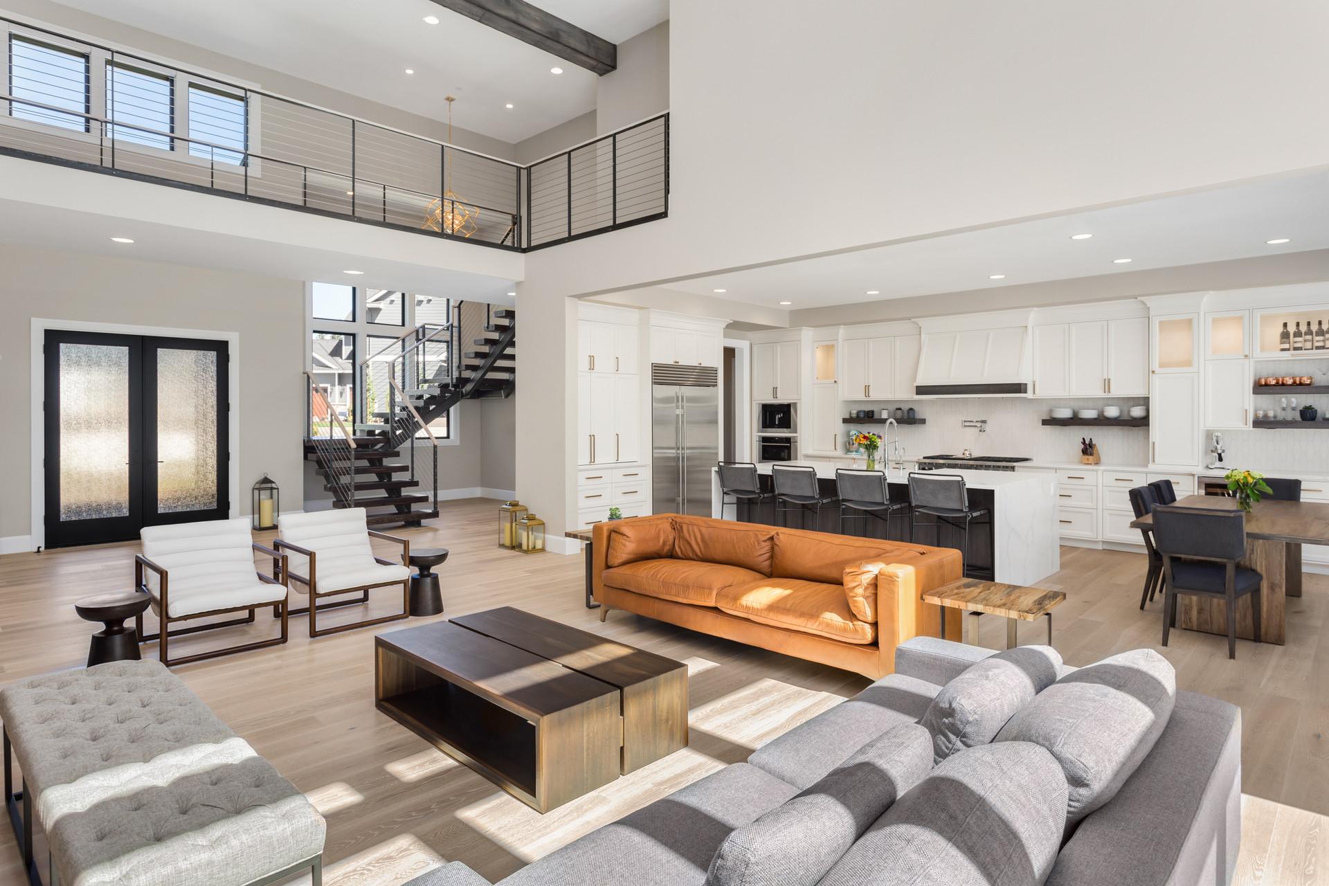 Living Room in Open Concept New Luxury