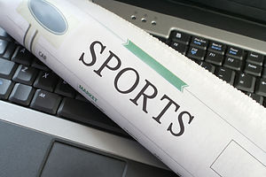 Sports headlines section of the newspape