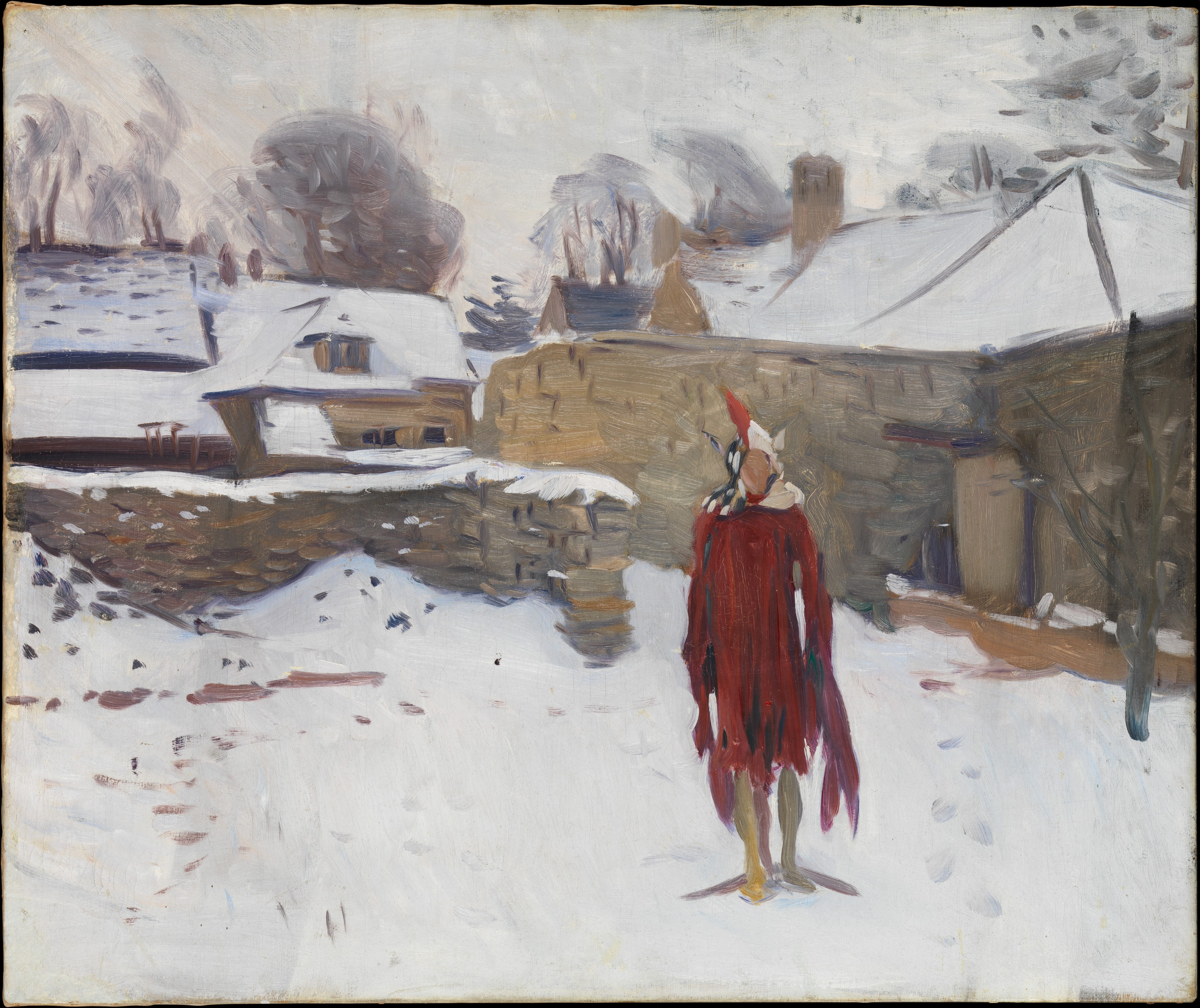 Mannikin in the Snow