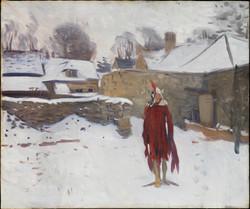 Mannikin in the Snow
