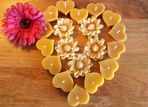 The gift of pure Beeswax Candles this Mother's Day