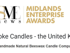 Bee-spoke Candles wins another award: Best Handmade Natural Beeswax Candle Company 2020