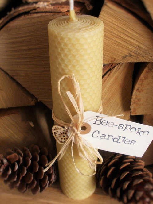 2 Large Hand Rolled English Beeswax Candles Gift Pack [Perfect Gift]