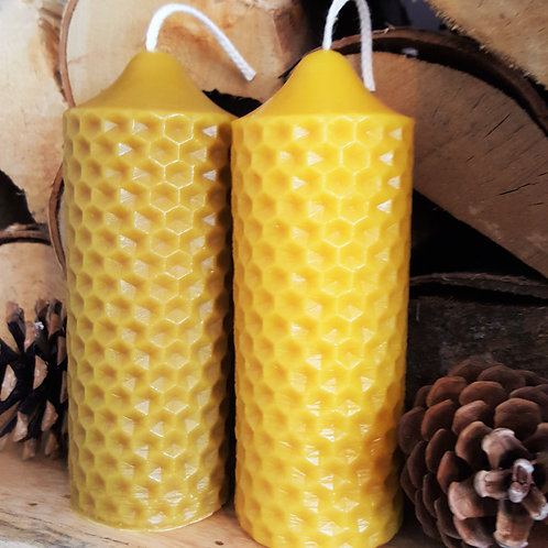 Solid English Beeswax Pillar Candle [Long Burn Time]