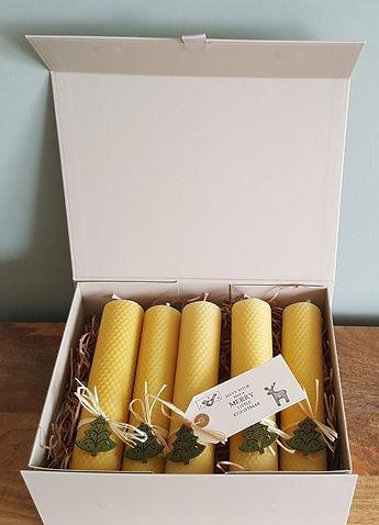 Bee-spoke Candles UK Luxury Christams Beeswax Candle Gift Box