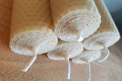 Large Hand Rolled Beeswax Candles [Plain and Simple Range]