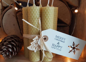 Beautiful, Natural and Luxury Beeswax Candle Gifts for Christmas from Bee-spoke Candles UK
