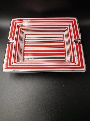 Sigaren asbak rood/silver