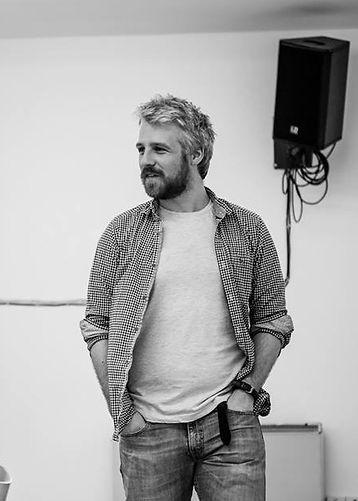 Eoghan Carrick in rehearsal in Dublin Fringe Lab for This Lime Tree Bower by Conor McPherson