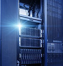 stand mainframe in a data center with li