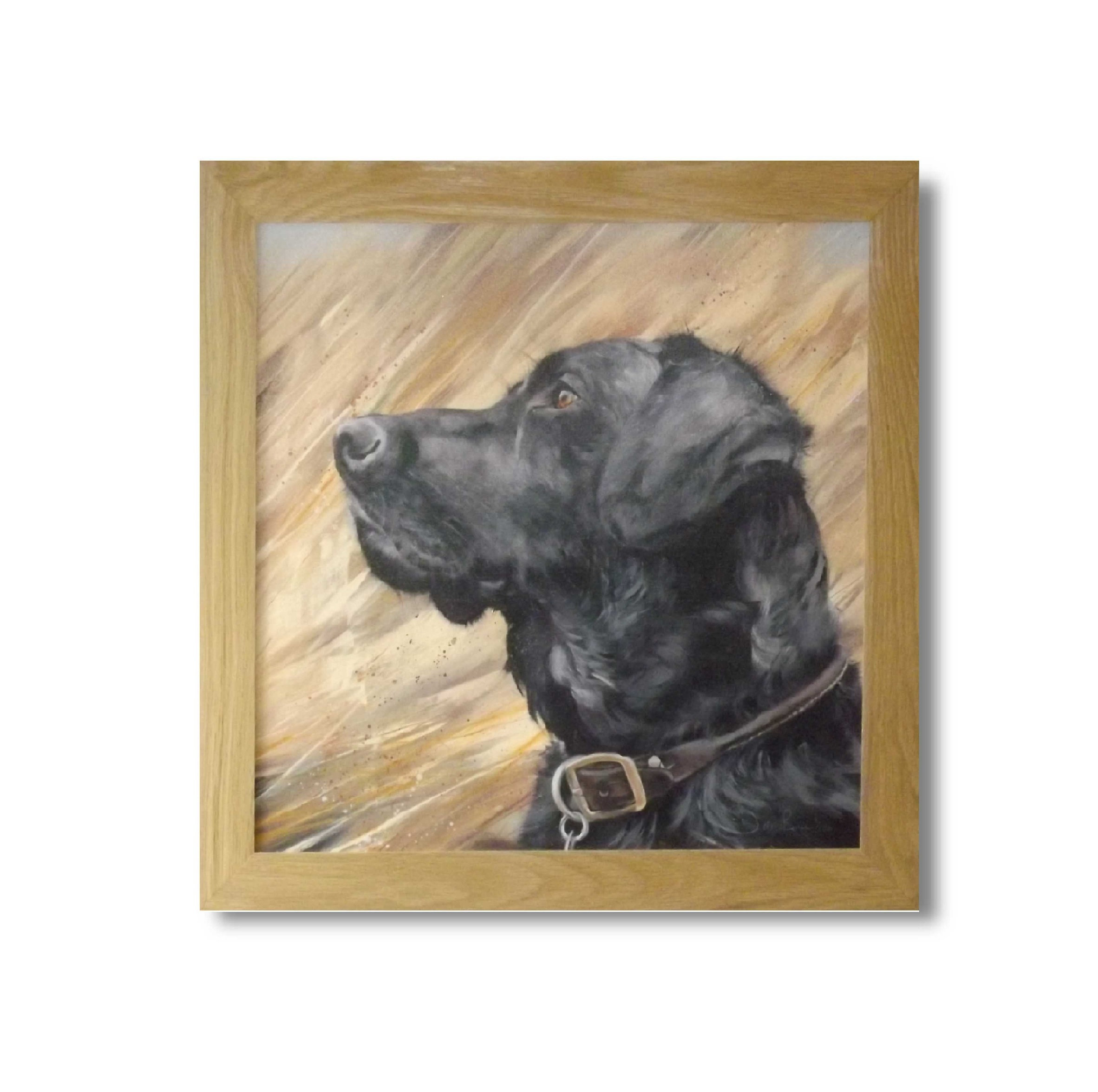 Black Labrador in reeds  print (Debbie Boon).JPG