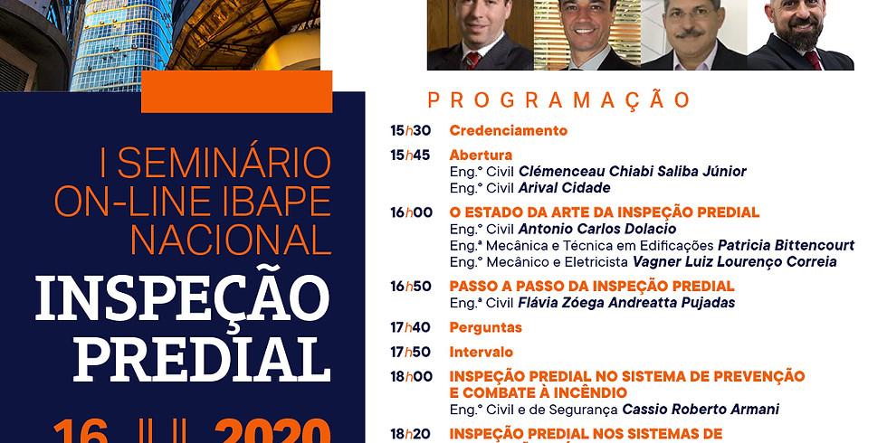 I Seminário on-line IBAPE Nacional - INSPEÇÃO PREDIAL