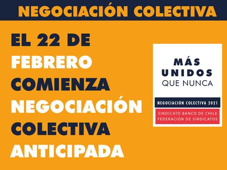 El 22 de febrero Comienza Negociación Colectiva Anticipada