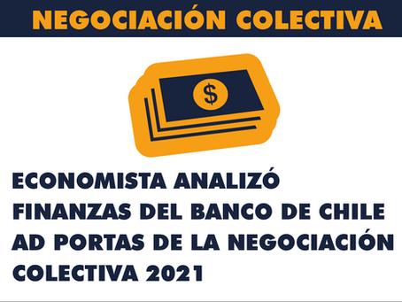 Economista analizó finanzas del Banco de Chile ad portas de la Negociación Colectiva 2021