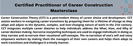 Certified Practitioner of Career Construction Masterclass - Group B